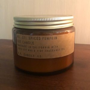 P.F. large Spiced Pumpkin Candle soy wax
